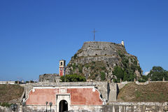 Old fortress Corfu town Royalty Free Stock Photos