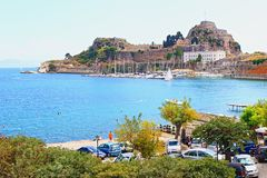 Corfu fortress Greece Royalty Free Stock Images