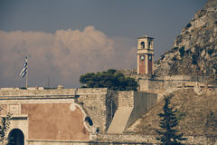 Old fortress in Corfu - Vintage, Greece Royalty Free Stock Photo