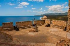 Old fortress in Cuba. Fort Castillo del Moro. Castle San Pedro de la Roca del Morro, Santiago de Cuba stock photography