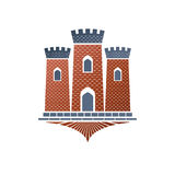 Old fortress decorative isolated vector illustration.  Ancient C Stock Images