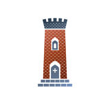 Old fortress decorative isolated vector illustration.   Stock Images