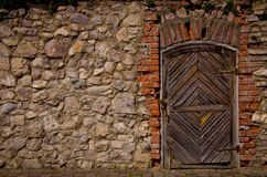 Old fortress door Stock Photo
