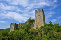Old fortress. Dvigrad. Croatia. Royalty Free Stock Photography