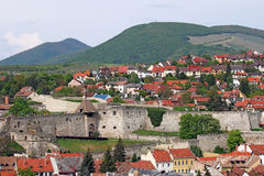 Old fortress Eger cityscape Royalty Free Stock Photos