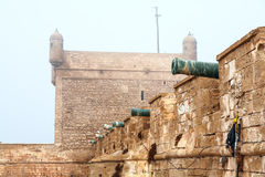 Old fortress in Essaouira, Morocco royalty free stock photo