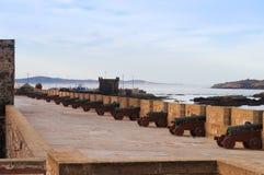 Old fortress in Essaouira overlooking the Atlantic Ocean Stock Photos