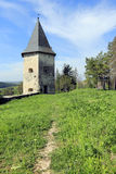 Old fortress in forest at nice day Stock Photography