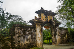 Old fortress. Gate input.HUE, VIETNAM. Gate input.HUE, VIETNAM.The Imperial City, Established as the capital of unified Vietnam in 1802 CE, it's also the Royalty Free Stock Image