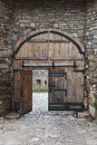 Old fortress gates Royalty Free Stock Images