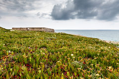 Old Fortress on Guincho Beach in Cascais near Lisbon Stock Photo