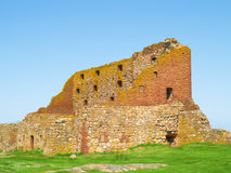 Old fortress Hammershus, Bornholm, Denmark Royalty Free Stock Images