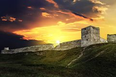 Old fortress on the hill stock image