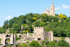 Old fortress on the hill Tsarevets on Veliko Tarnovo Royalty Free Stock Image