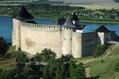 Old fortress in Hotyn,Ukraine Royalty Free Stock Photo