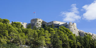 Old fortress in Hvar, Croatia, low angle view Stock Photo