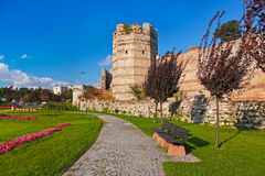 Old fortress at Istanbul Turkey Stock Image