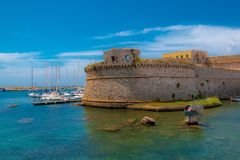Old fortress in Italy Puglia stock photography