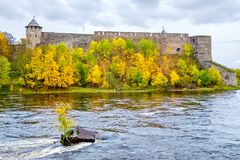 Old fortress. Ivangorod, Russia Stock Photography