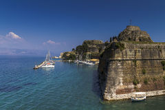 Old fortress, Kerkira, Corfu. Old fortress in the city of Kerkira on the island of  Corfu Stock Photos