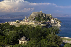 Old fortress, Kerkira, Corfu. Old fortress in the city of Kerkira on the island of  Corfu Stock Photography