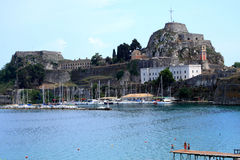 Old fortress in Kerkyra, Coftu Stock Photos