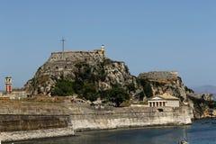 Old fortress in Kerkyra. Corfu. Greece. Asdf asdf asdfsd dsfh afdh adf Royalty Free Stock Photos