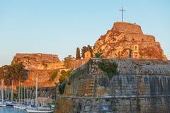 Old Fortress in Kerkyra, Corfu island Stock Photos