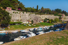 Old Fortress in Kerkyra, Corfu island Royalty Free Stock Images
