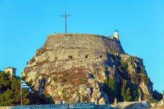 Old Fortress in Kerkyra, Corfu island Royalty Free Stock Photos