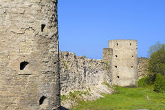 Old fortress Koporie. Fortress Koporie - a monument of Russian medieval defensive architecture XIII century - is in northwest of Leningrad region, on edge Stock Photos
