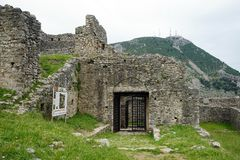 Old fortress in Lezhe. LEZHE, ALBANIA - CIRCA MAY 2019 Entrance of old fortress stock photo
