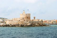 Old fortress with lighthouse Royalty Free Stock Photography