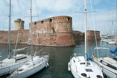 Old Fortress in Livorno town Stock Image