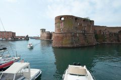 Old Fortress in Livorno town Stock Photos