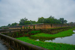 Old fortress.The moat around the building.HUE, VIETNAM Stock Image