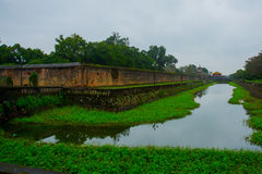 Old fortress.The moat around the building.HUE, VIETNAM Royalty Free Stock Photos