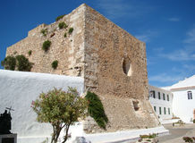 An old fortress on the Mount of Monte Toro. Menorca, Spain Royalty Free Stock Images