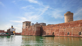 Old fortress in the port of Leghorn, Italy Stock Photos