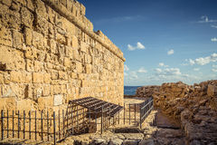 The old fortress in the port of Paphos Stock Photo