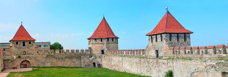 Old fortress on the river Dniester in town Bender, Transnistria. Royalty Free Stock Images