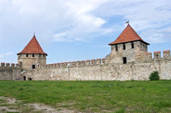 Old fortress on the river Dniester in town Bender, Transnistria. Stock Photos