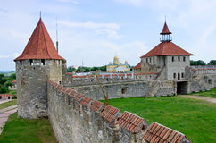 Old fortress on the river Dniester in town Bender, Transnistria. Royalty Free Stock Image