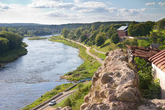 Old Fortress and river stock photography