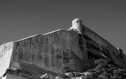 Old fortress on rocky coast in Bonifacio, Corsica Stock Photo