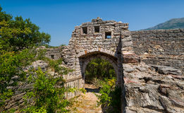 Old fortress ruins, main gate photo Royalty Free Stock Images