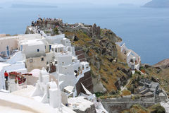 Old fortress on Santorini Island. Royalty Free Stock Image