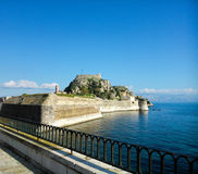 Old fortress and the sea. In Corfu island Greece in autumn Stock Image