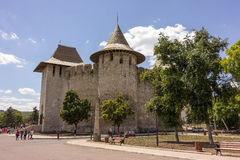 Old fortress in Soroca, Nistru river, Moldova stock photography