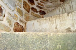 Old fortress stairs stock photography